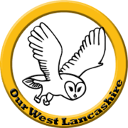 Our West Lancashire logo, drawing of an owl flying